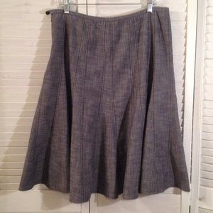 Larry Levine 12 Grey Career Tulip Skirt